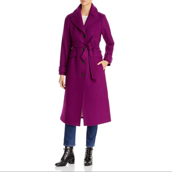 NWT Kate Spade Belted Wool Blend Duster Coat